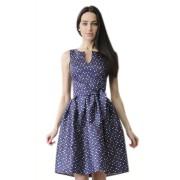 Короткое хлопковое платье с пышной юбкой