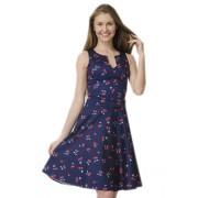 Короткое платье с принтом в вишенки
