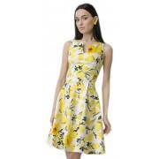 Светлое хлопковое платье с принтом лимонов
