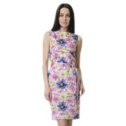 Хлопковое платье-футляр в крупные цветы