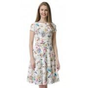 Лёгкое платье из эластичной ткани с авторским принтом