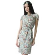 Привлекательное летнее платье под пояс