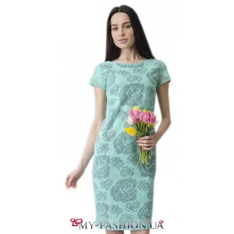 Праздничное платье мятного цвета