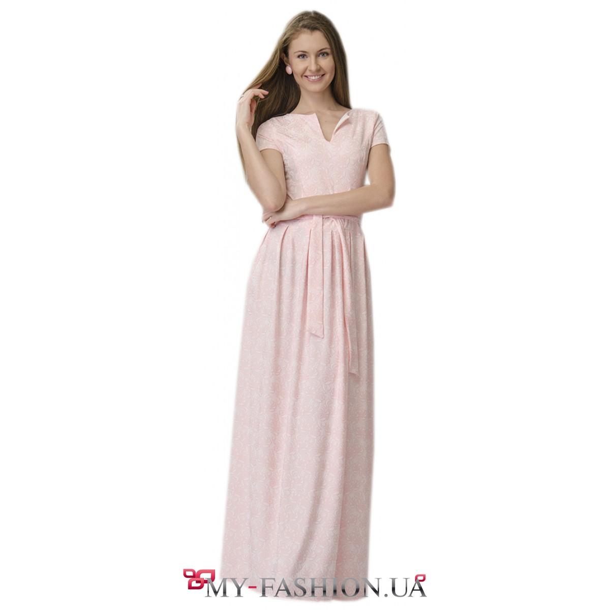Платье нежных цветов купить