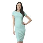Платье-футляр приятного мятного цвета