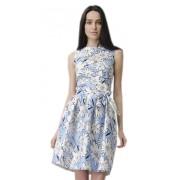 Хлопковое платье с пышной юбкой под пояс