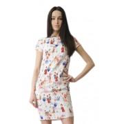 Яркое летнее платье с коротким рукавом