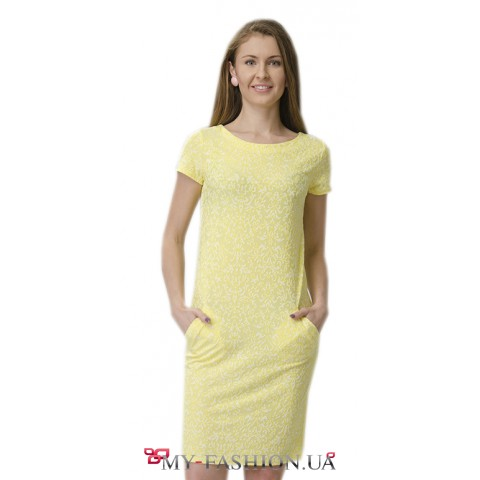Короткое платье с врезными карманами