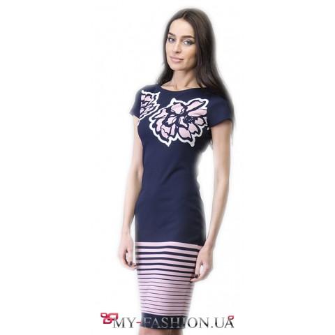 Восхитительное дизайнерское летнее платье-футляр