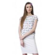 Красивое белое платье со свободной полочкой