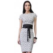 Дизайнерское летнее платье-футляр с поясом