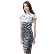 Комбинированное платье чёрно-белой расцветки