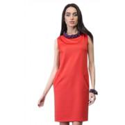 Привлекательное строгое платье оранжевого цвета