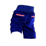 Дизайнерские хлопковые шорты насыщенного синего цвета