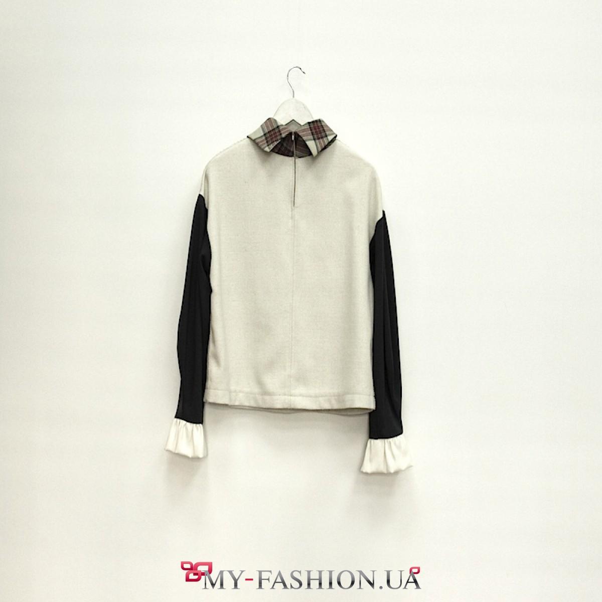 Блузка из плотной ткани купить