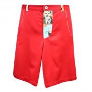 Прямые шорты красного цвета с завышенной талией
