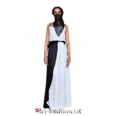 Контрастное платье восточного стиля