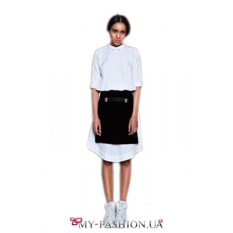 Белое платье из тонкого хлопка