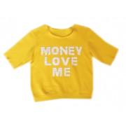 Жёлтый свитшот с золотой надписью