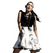Контрастное дизайнерское платье с юбкой-солнце