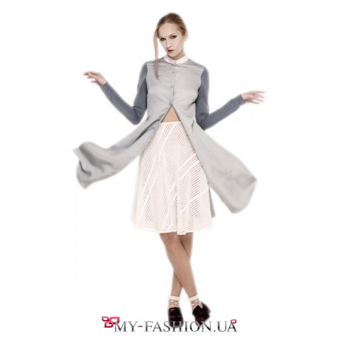 Комбинированное платье - рубашка