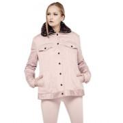 Утепленная куртка нежного цвета пудра