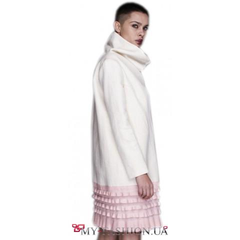 Пальто из шелка грубого плетения