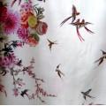 Воздушное лёгкое платье из шёлка с широкими рукавами