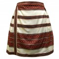 Короткая юбка из натурального хлопка в национальном колорите
