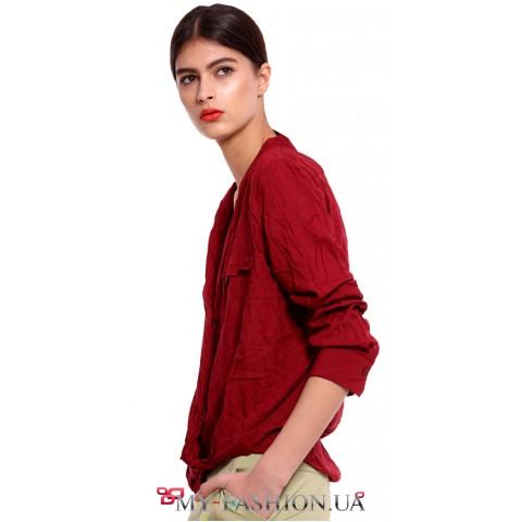 Женская блузка бордового цвета