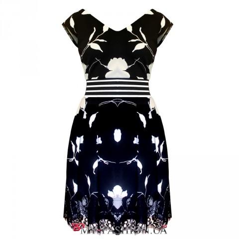 Дизайнерское платье комбинированного фасона