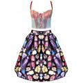 Дизайнерский корсет-блузка укороченной модели