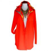Ярко-оранжевый женский костюм-двойка