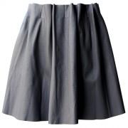 Дизайнерская юбка серого цвета