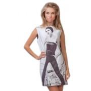 Великолепное белое платье с принтом