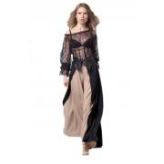 Волшебная блузка с гипюром черного цвета