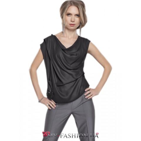 Очаровательная асимметричная дизайнерская блуза