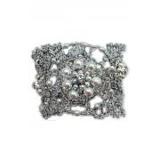 Дизайнерский браслет из страз и бусин