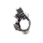 Оригинальный авторский браслет чёрного цвета