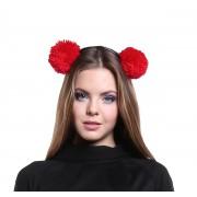 Ярко-красные авторские помпоны для волос
