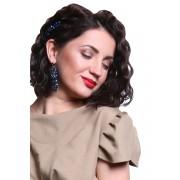 Авторские серёжки и заколка для волос