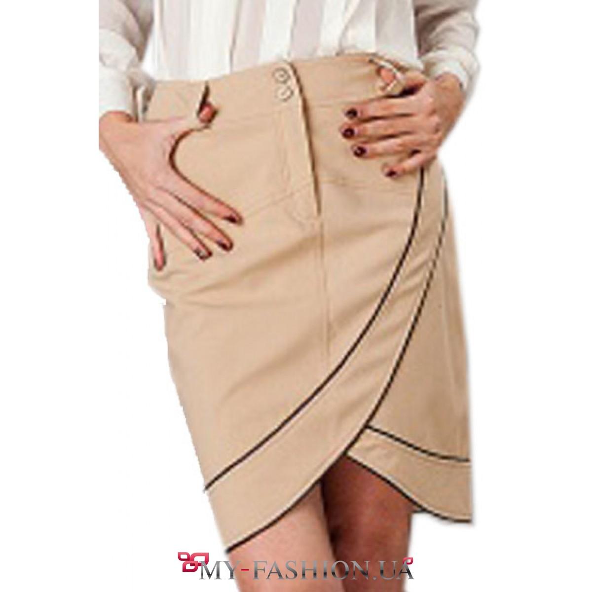 Бежевая юбка доставка