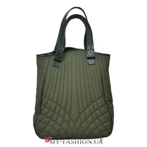 Вместительная женская сумка ручной работы