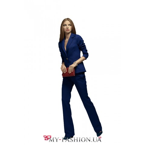 Клетчатый костюм женский