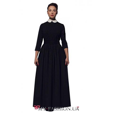 Стилизованное платье максимальной длины