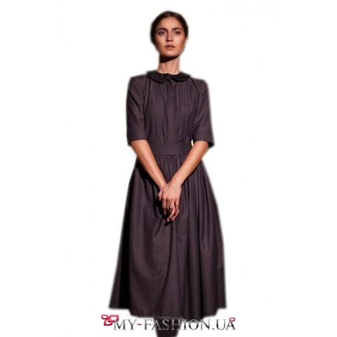 Платье-миди с шикарной широкой юбкой