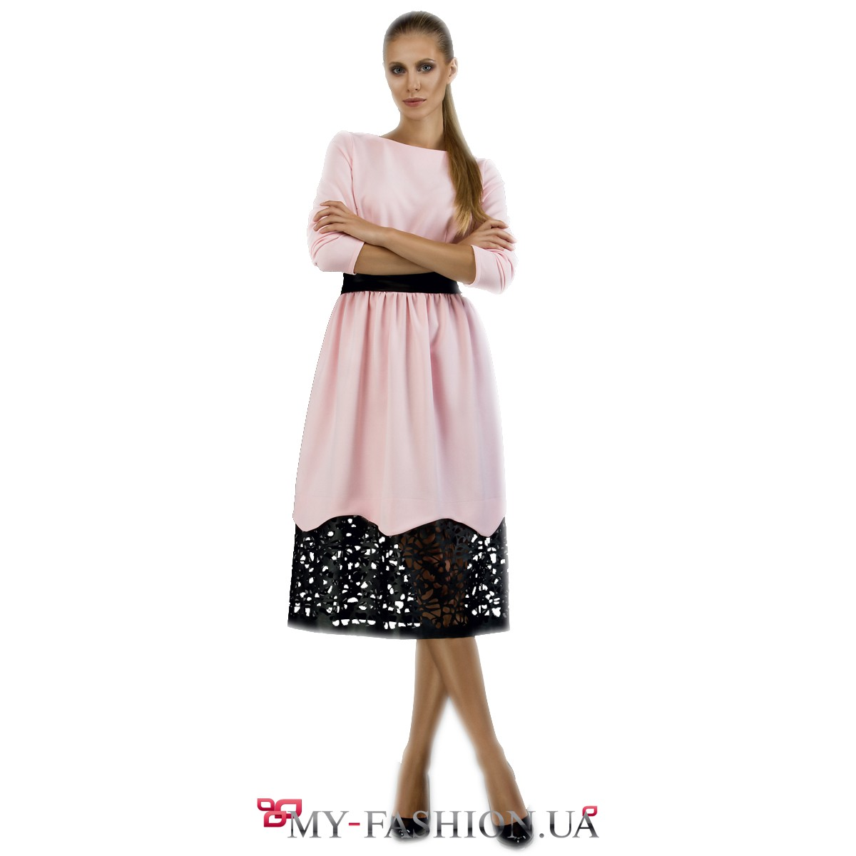 Платье с перфорацией купить в интернет магазине