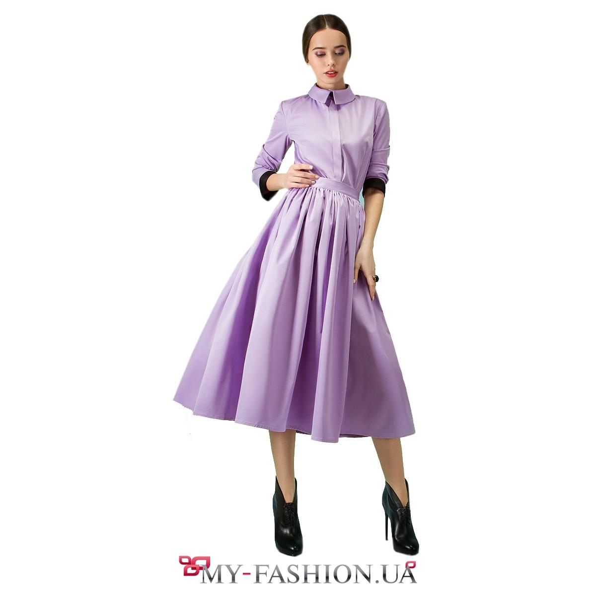 Купить юбку сиреневого цвета