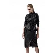 Чёрный комбинированный пиджак