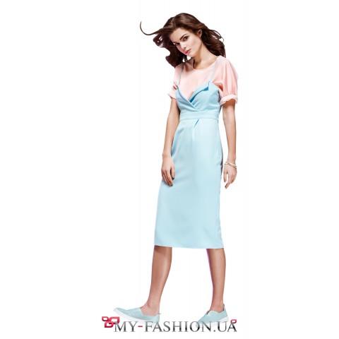 Летнее платье-трансформер приталенного силуэта